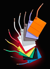 Fluoropolymer color masterbatches for wire & cable