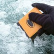 Overmolded TPE Ice Scraper