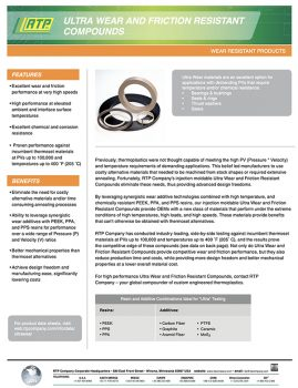 RTP Company - Ultra Wear and Friction Resistant Compounds
